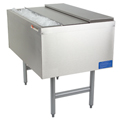 "36"" Stainless Steel Underbar Ice Chest, Double-sided w/ 8 product cold plate - MM-PT36+8: 36""L x 24""D x 30""H - NSF Listed"
