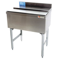 "24"" Stainless Steel Underbar Ice Chest, w/ 8 product cold plate - MM-SD24IC+8: 24""L x 19""D x 30""H - NSF Listed"