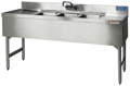 "60"" Stainless Steel Underbar 3 Station Sink - MM-SD53C - 60""L x 19""D x 30""H - NSF Listed"