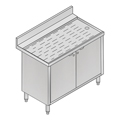 "36"" Stainless Steel Underbar Storage Cabinet - MM-SK-CAB36 - 36""L x 21""D x 30""H - NSF Listed"