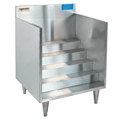 "24"" Stainless Steel Underbar Bottle Storage Display - MM-SK24BSD - 24""L x 21""D x 30""H - NSF Listed"