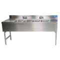 "72"" Stainless Steel Underbar 4 Station Sink - MM-SK64C - 72""L x 21""D x 30""H - NSF Listed"